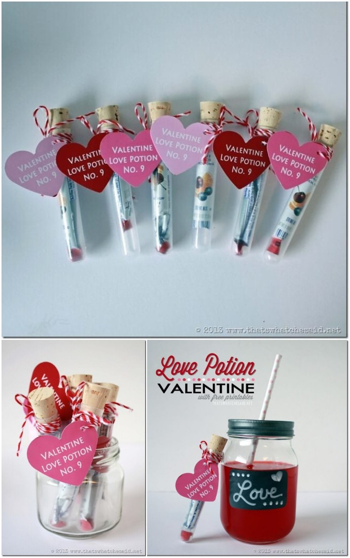 Love Potion Valentine Idea