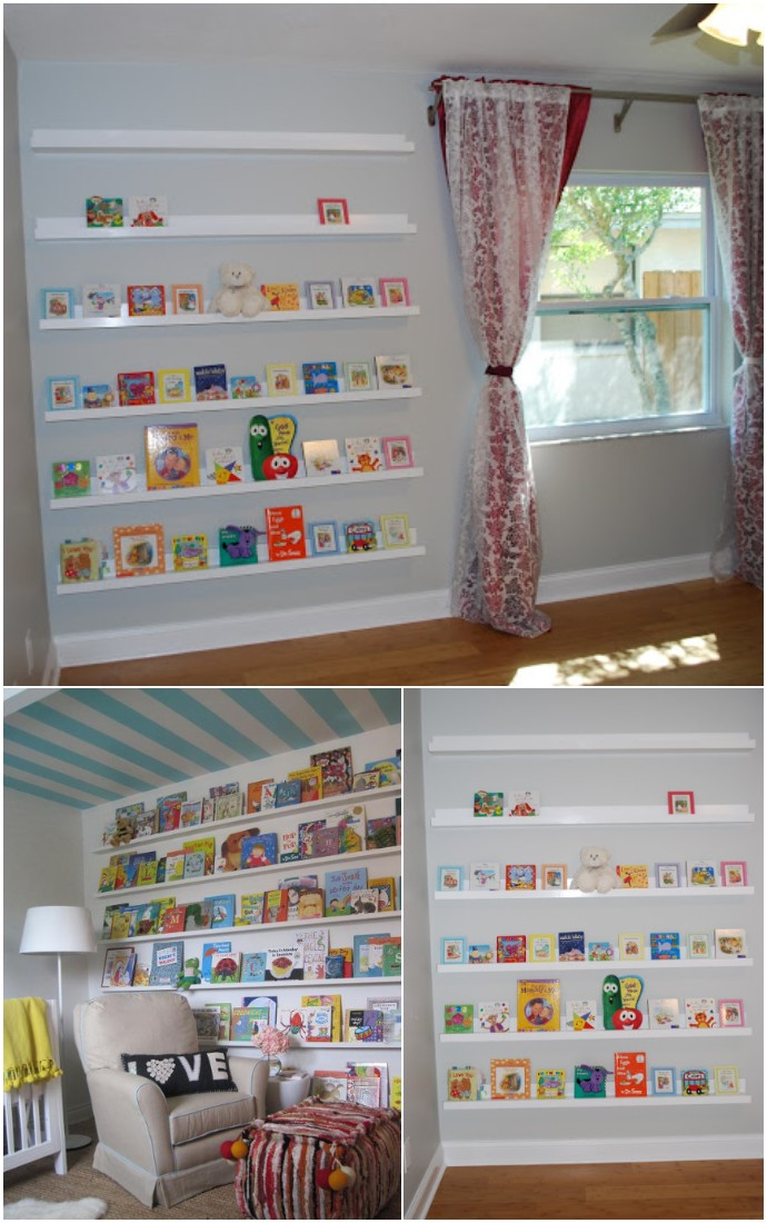 Nursery Room Book Shelves