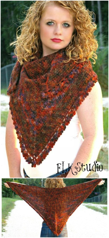 Pumpkin Spice Crochet Shawl