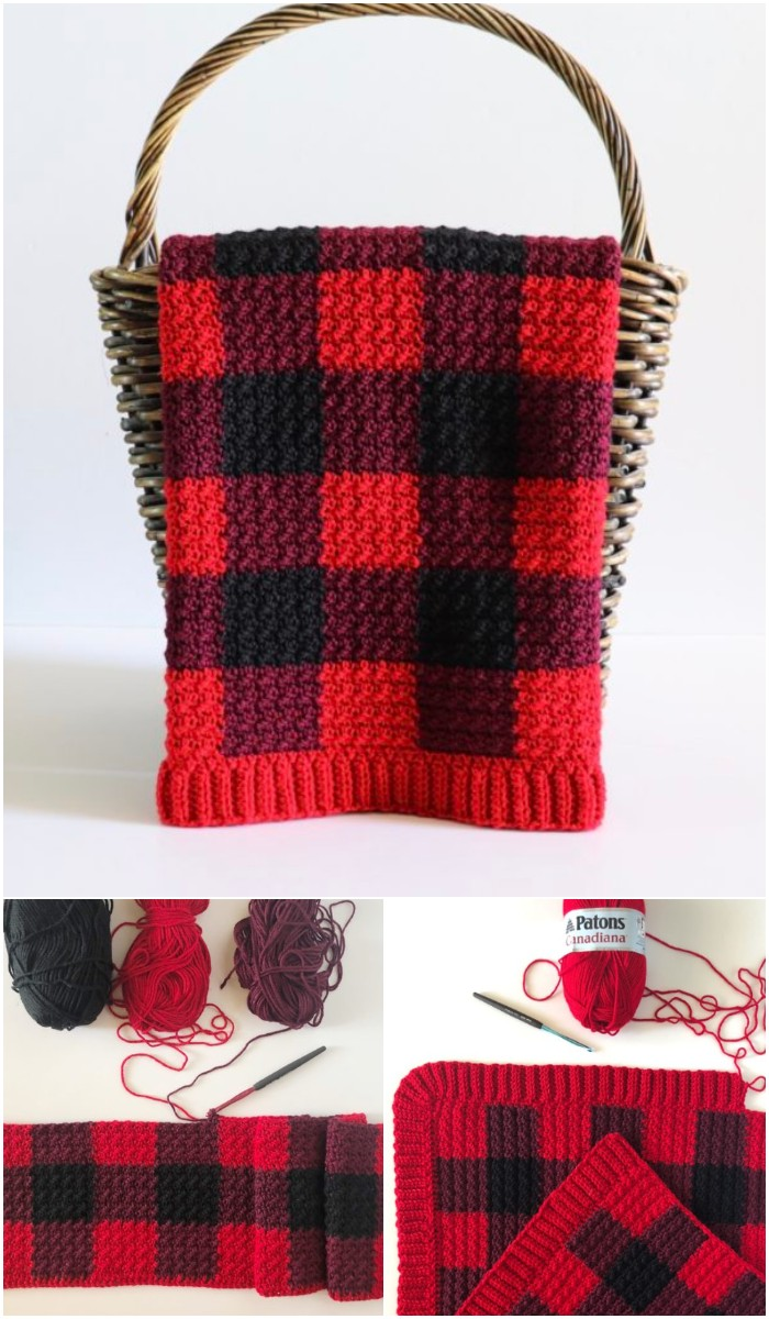 Red Crochet Baby Blanket