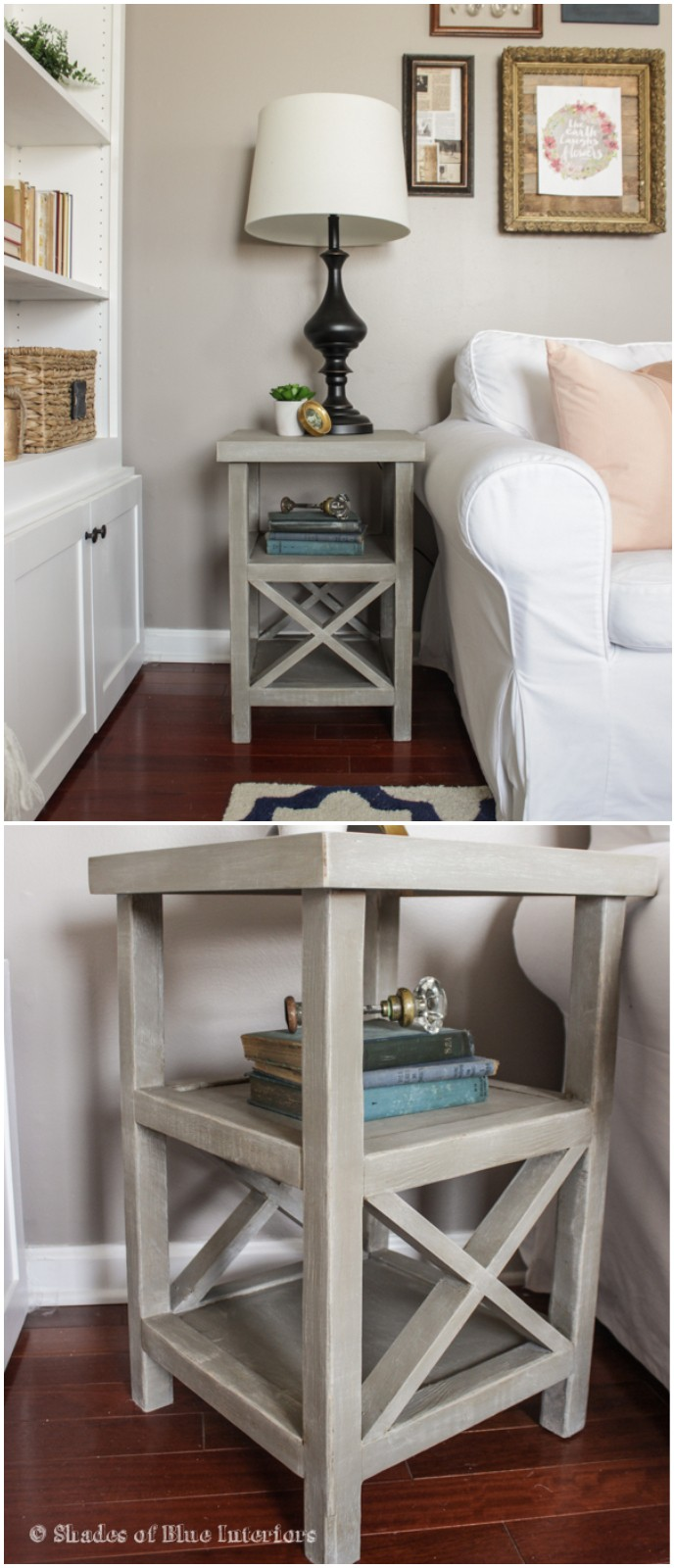 Small X End Table