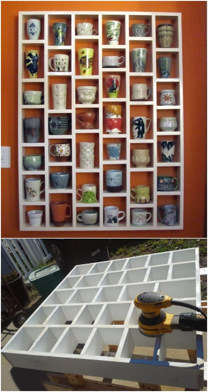 The coffee cup rack