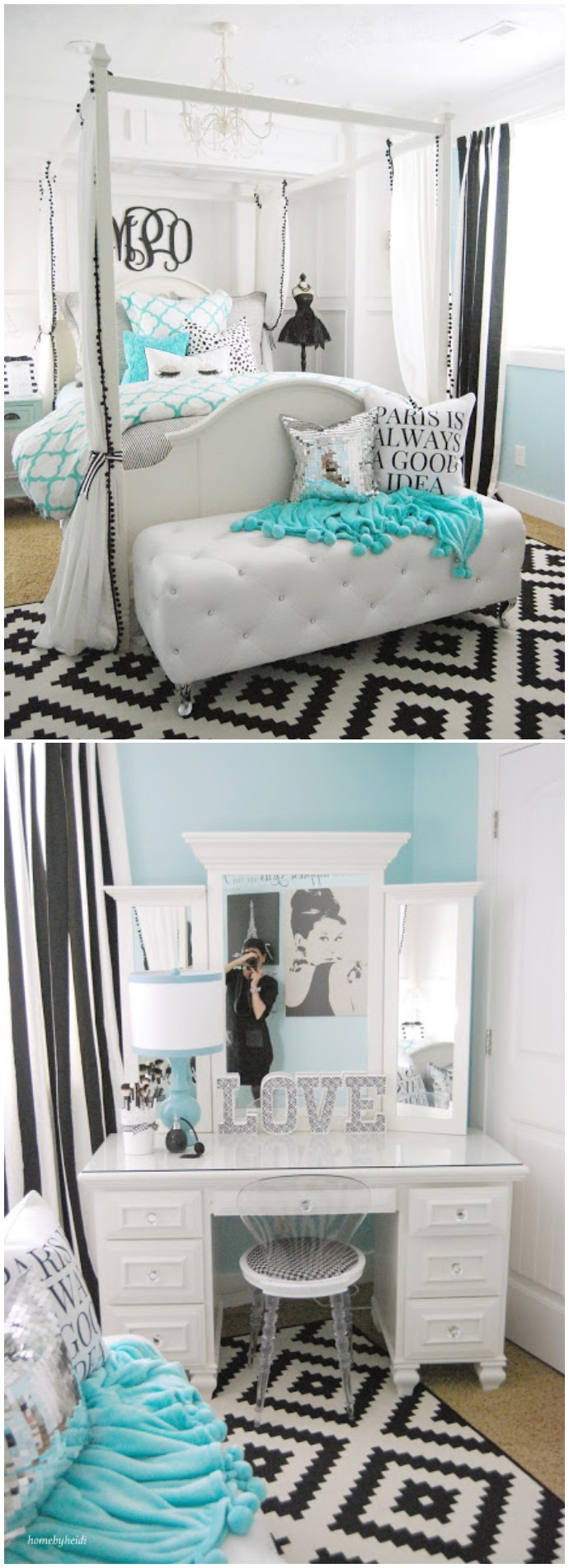 Tiffany Inspired Bedroom