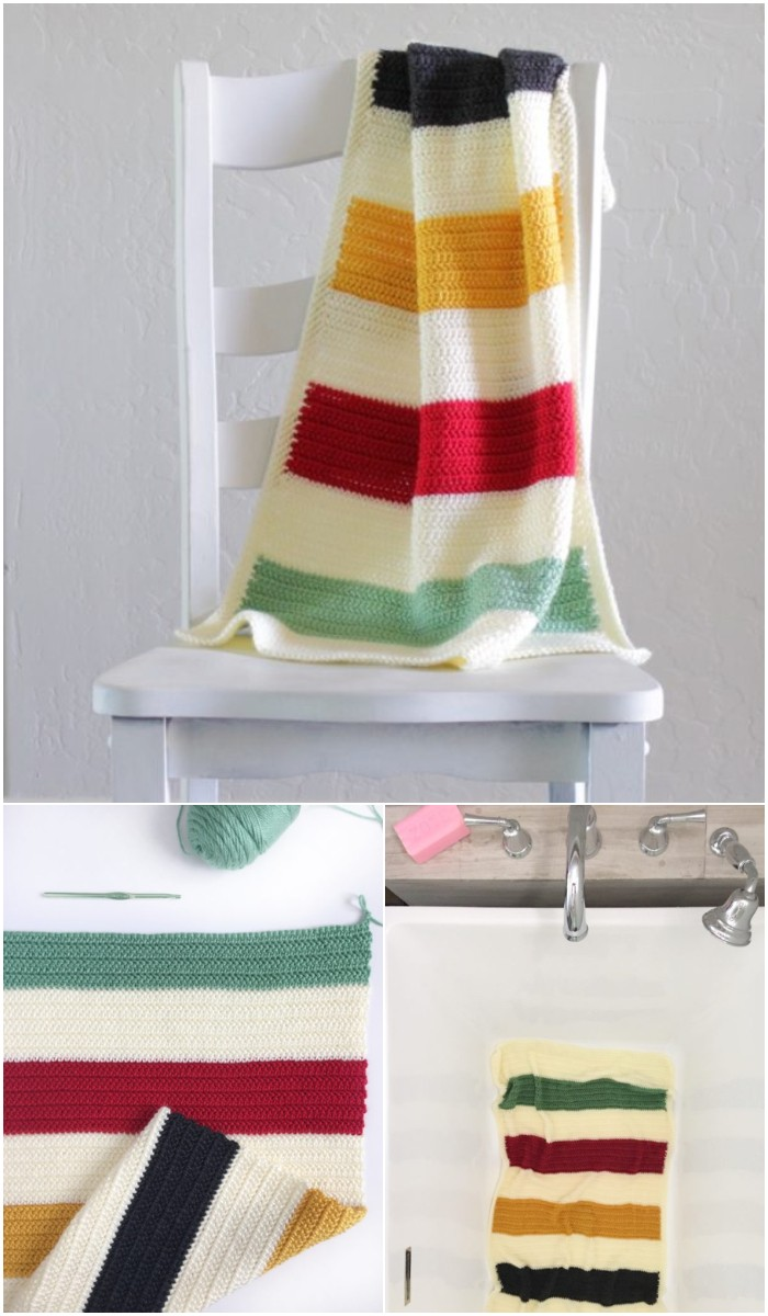 Vintage Stripes Baby Blanket