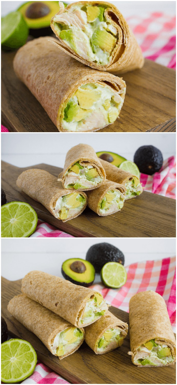 Avocado Chicken Wraps healthy dinner