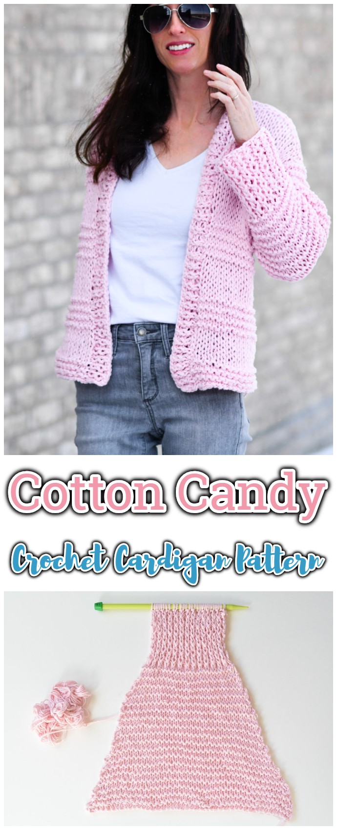 Cotton Candy Crochet Cardigan Pattern