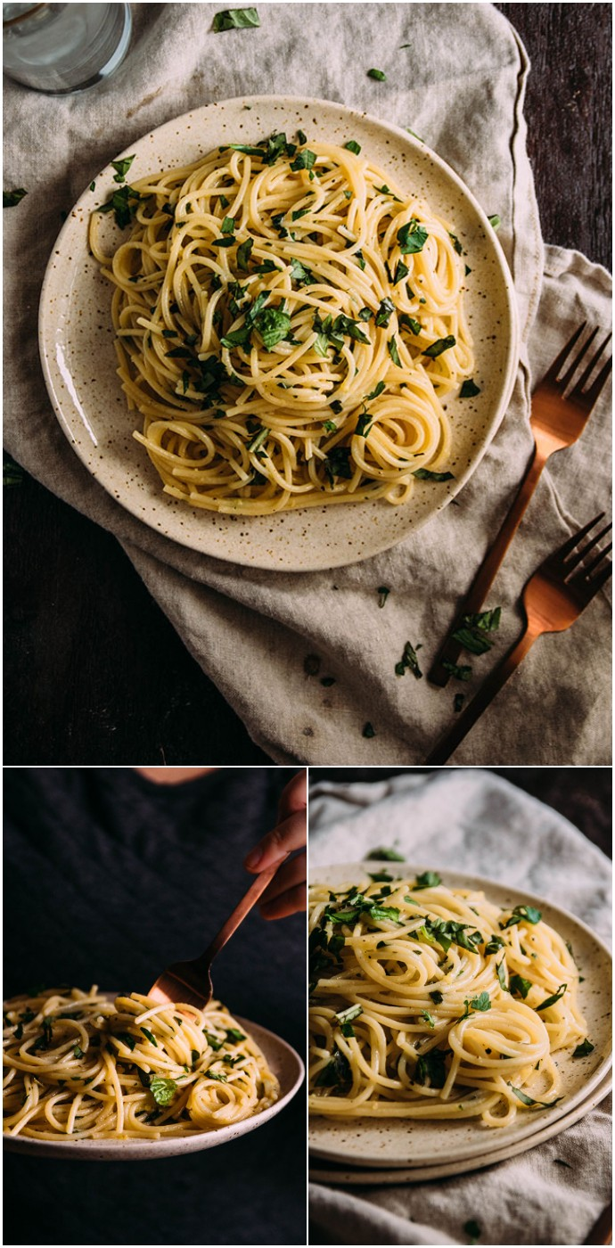 Easy Lemon Herb Pasta