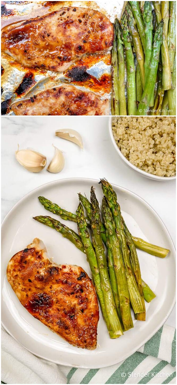 Honey Garlic Chicken And Asparagus Healthy Dinner