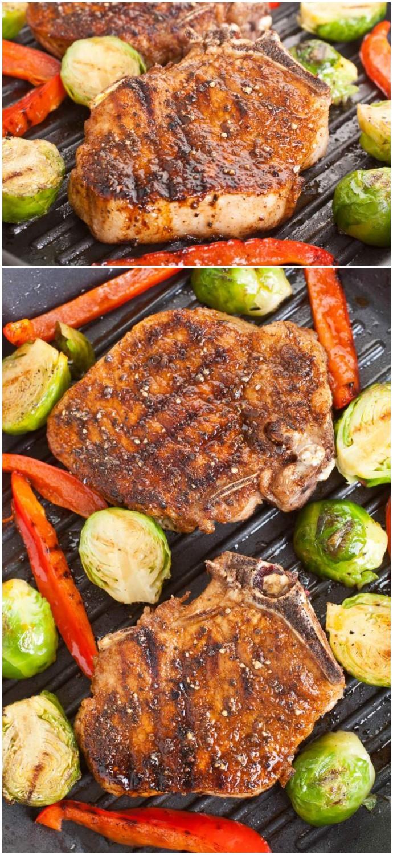 Southwestern Grilled Pork Chops healthy dinner