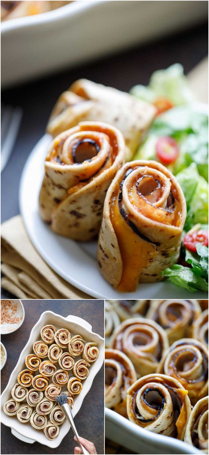 Baked Spiral Hawaiian Roll Sliders Party Appetizers