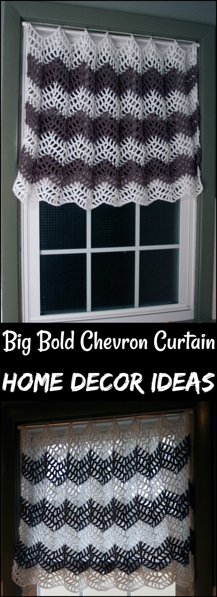 Big Bold Chevron Curtain Home Decor Ideas