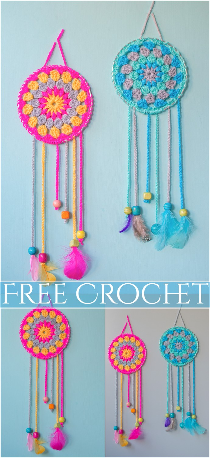 Crochet How To Make Dream Catchers Home Decor