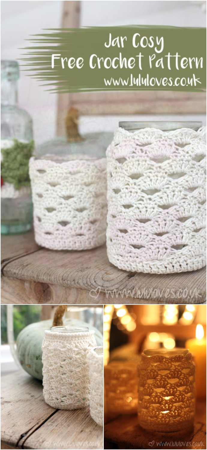 Crochet Pattern Jar Cosy Home Decor
