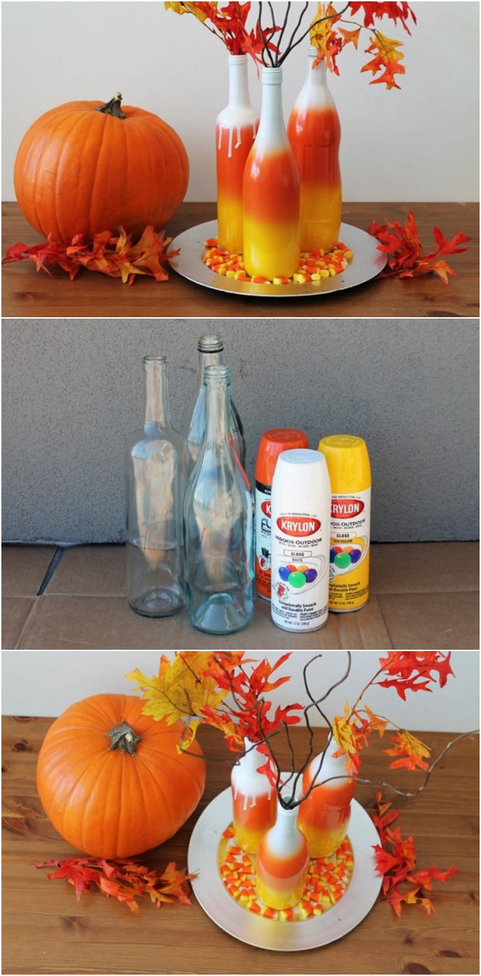 DIY Basics Ombre Wine Bottles