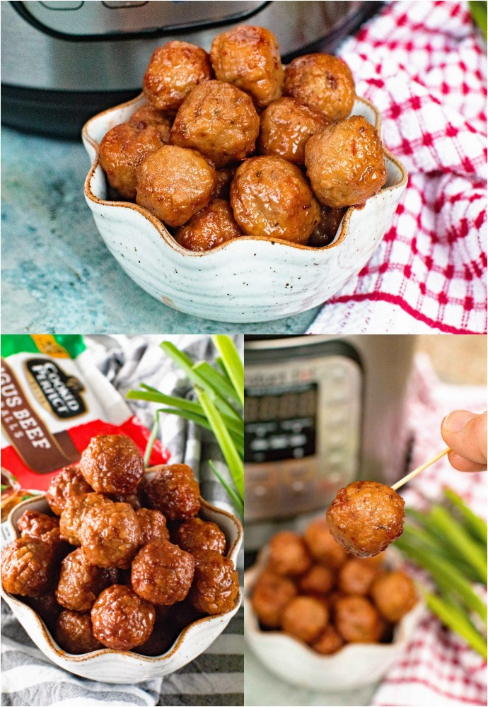 Instant Pot Pressure Cooker Grape Jelly Meatballs Appetizers