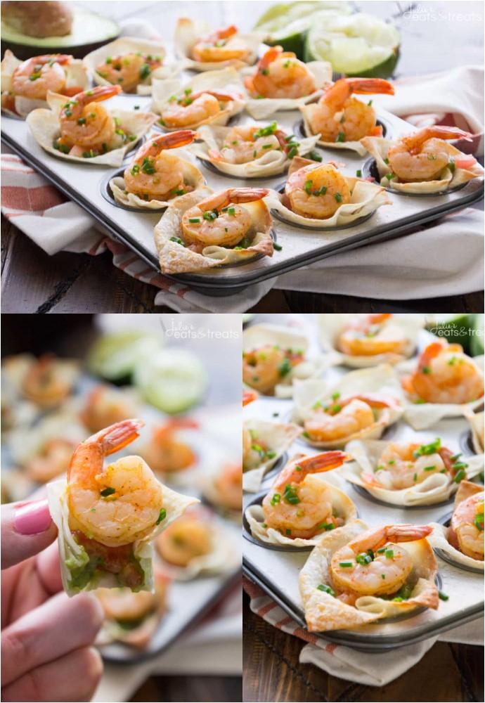 Light Tex Mex Shrimp Wonton Cups Party Appetizers