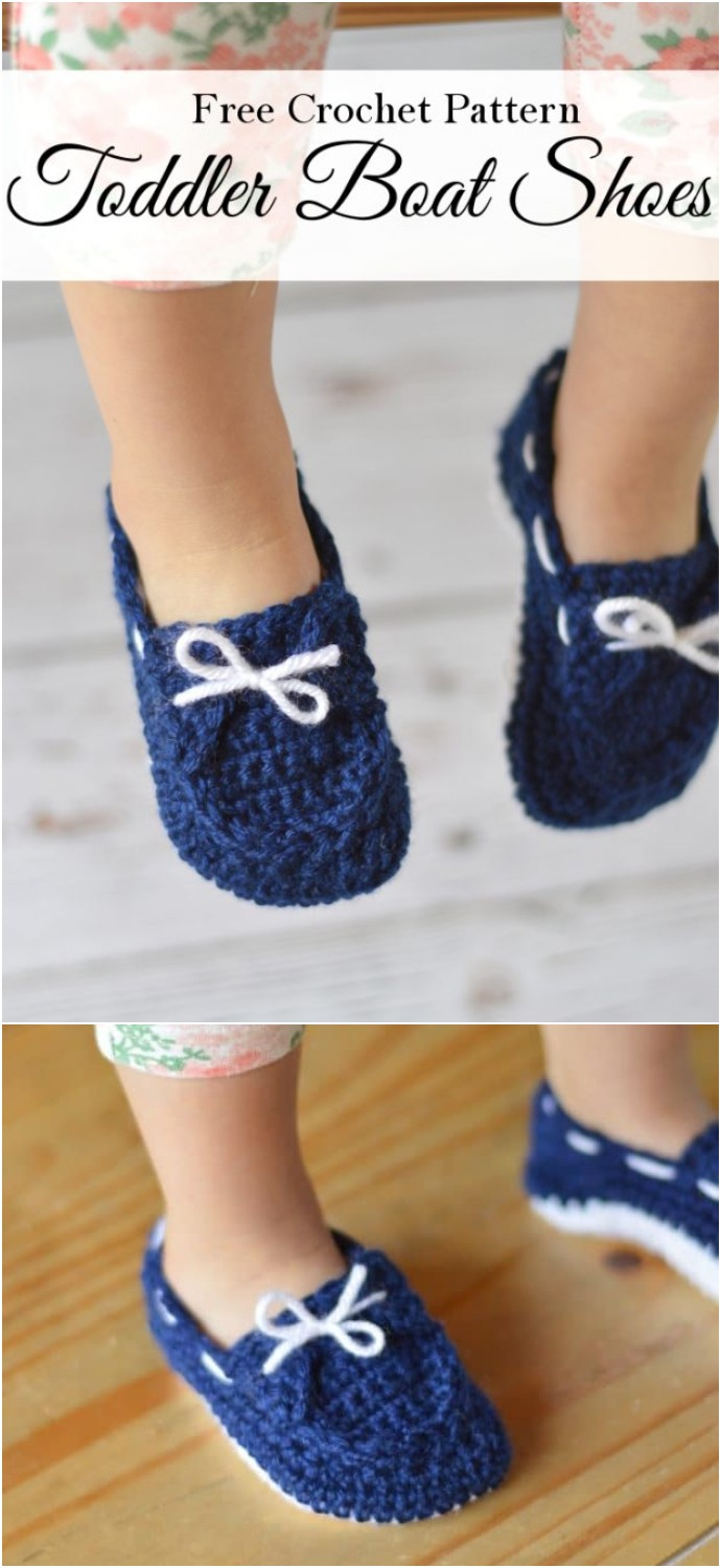Toddler Boat Slippers Crochet Pattern