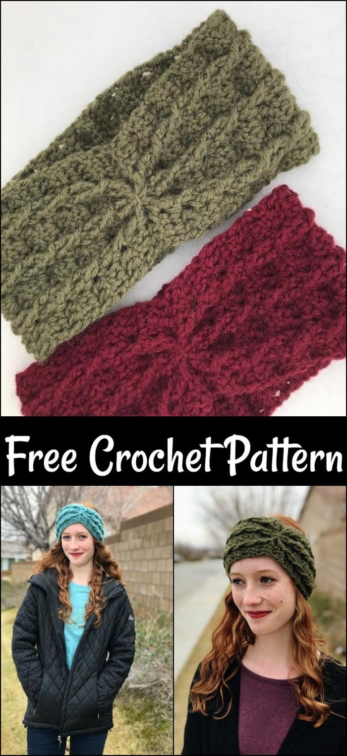 Alicia Ear Warmer Free Crochet Pattern
