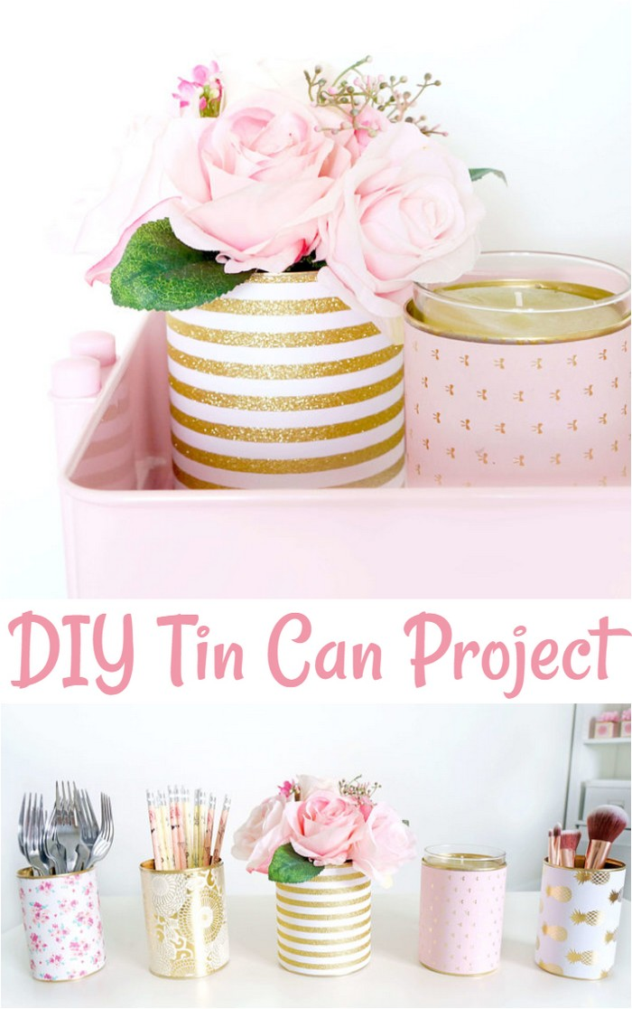 DIY Decorative Tin Can Vases