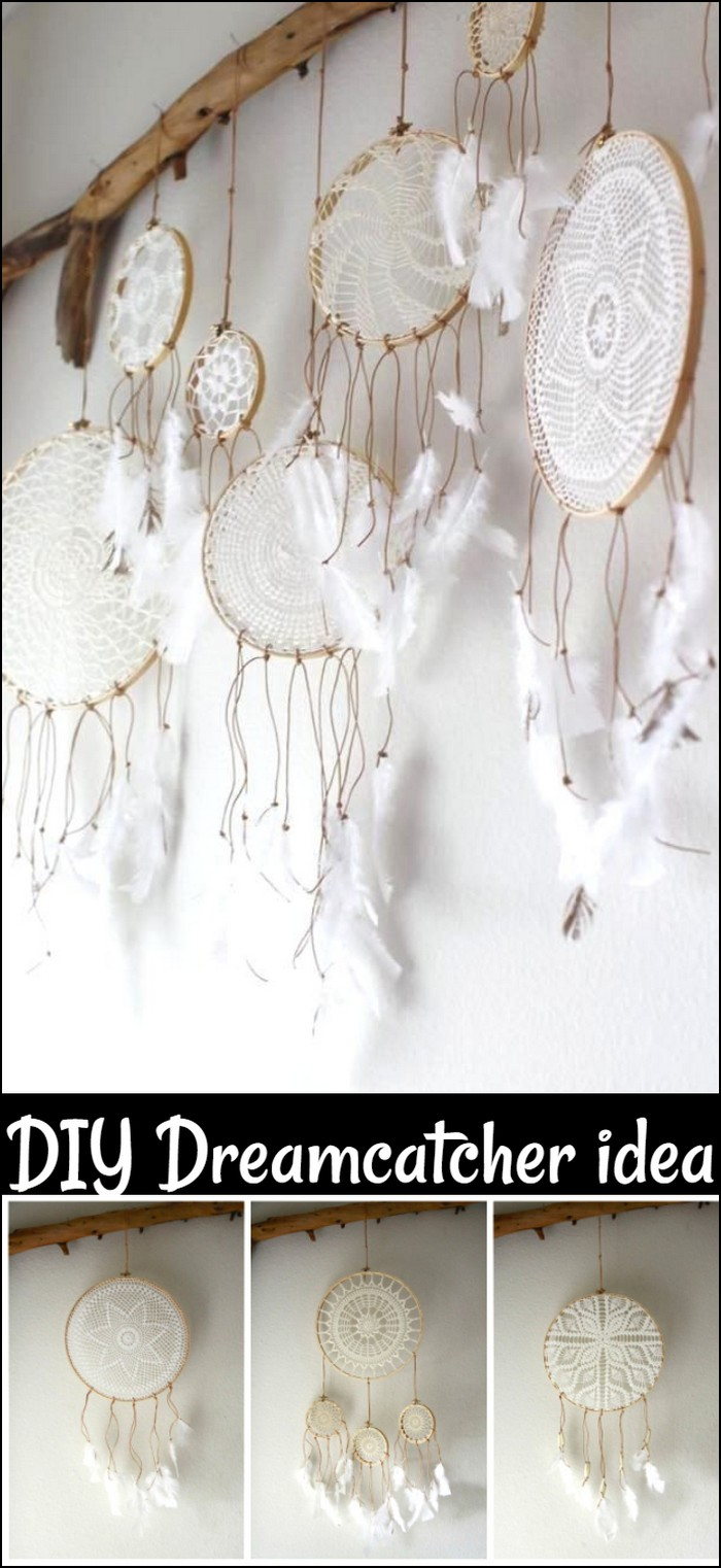 DIY Doily Dreamcatchers