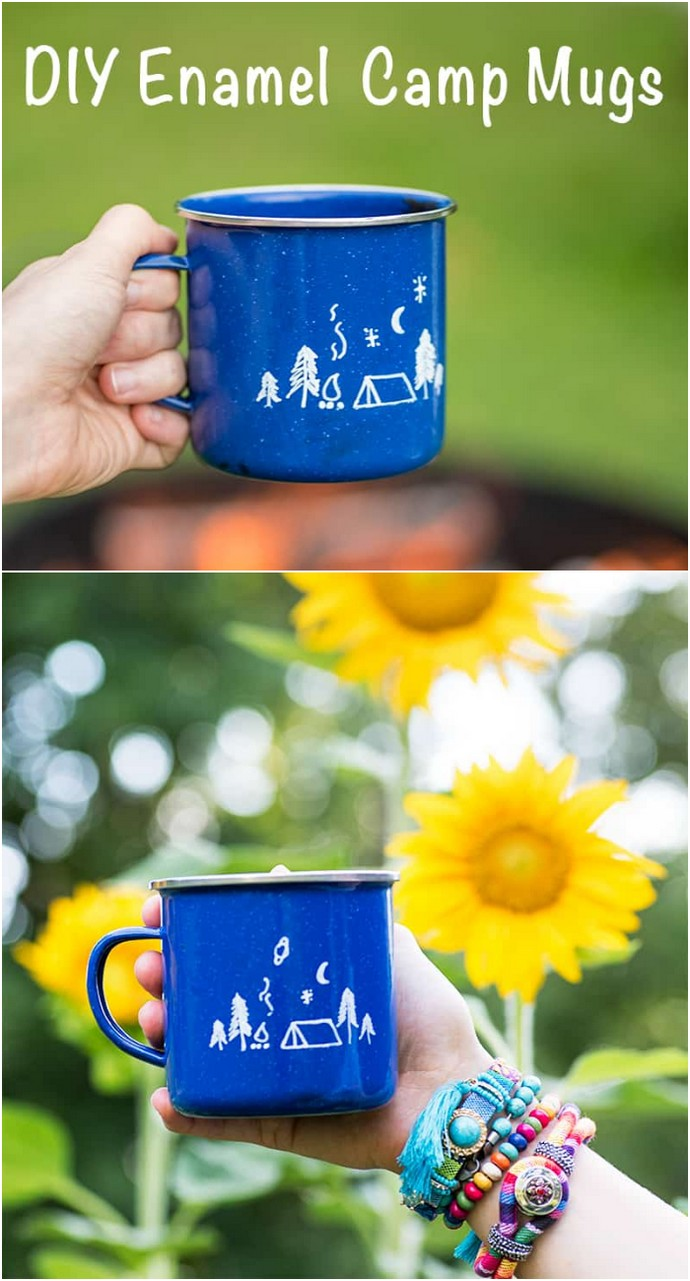 DIY Enamel Camp Mug