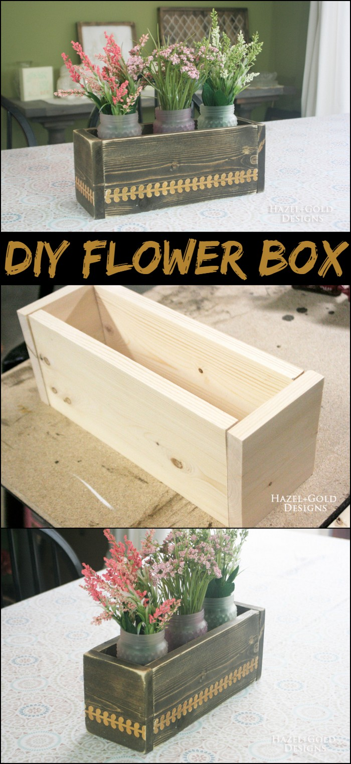 DIY Flower Box Centerpiece 1