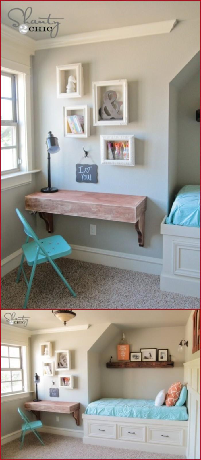 DIY Frame Shelves