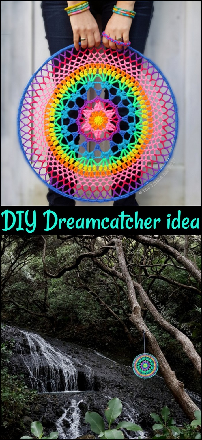 DIY Petal Power Mandala Dreamcatcher