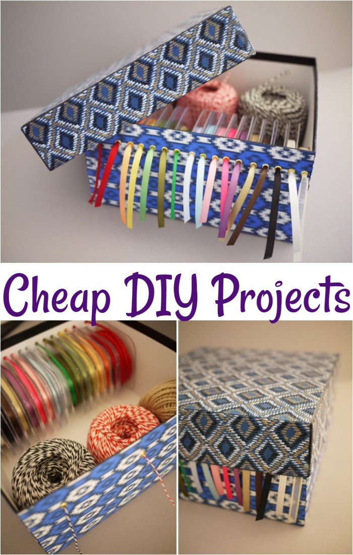 DIY Ribbon Storage Box