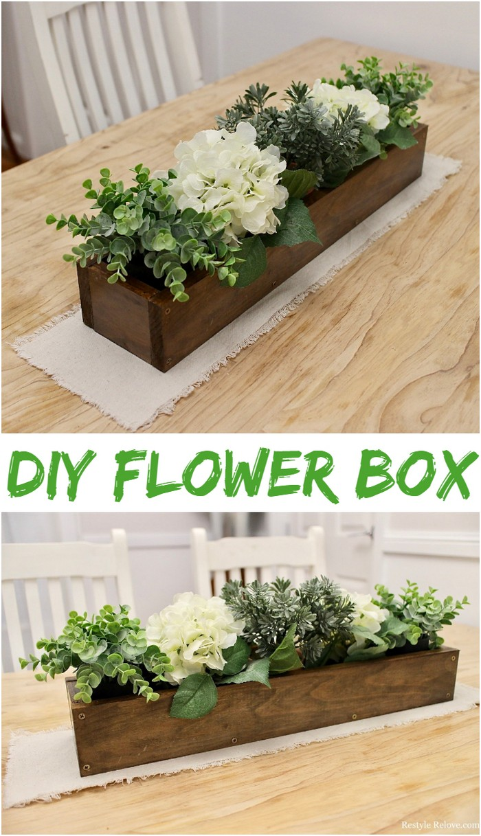 DIY Rustic Wooden Box Centrepiece