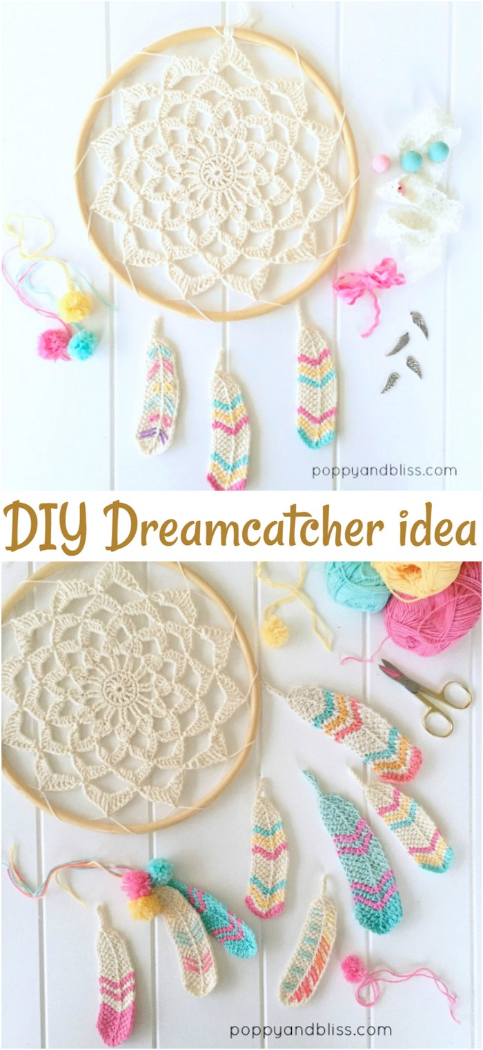 Dreamcatcher Tunisian Feathers Free Pattern