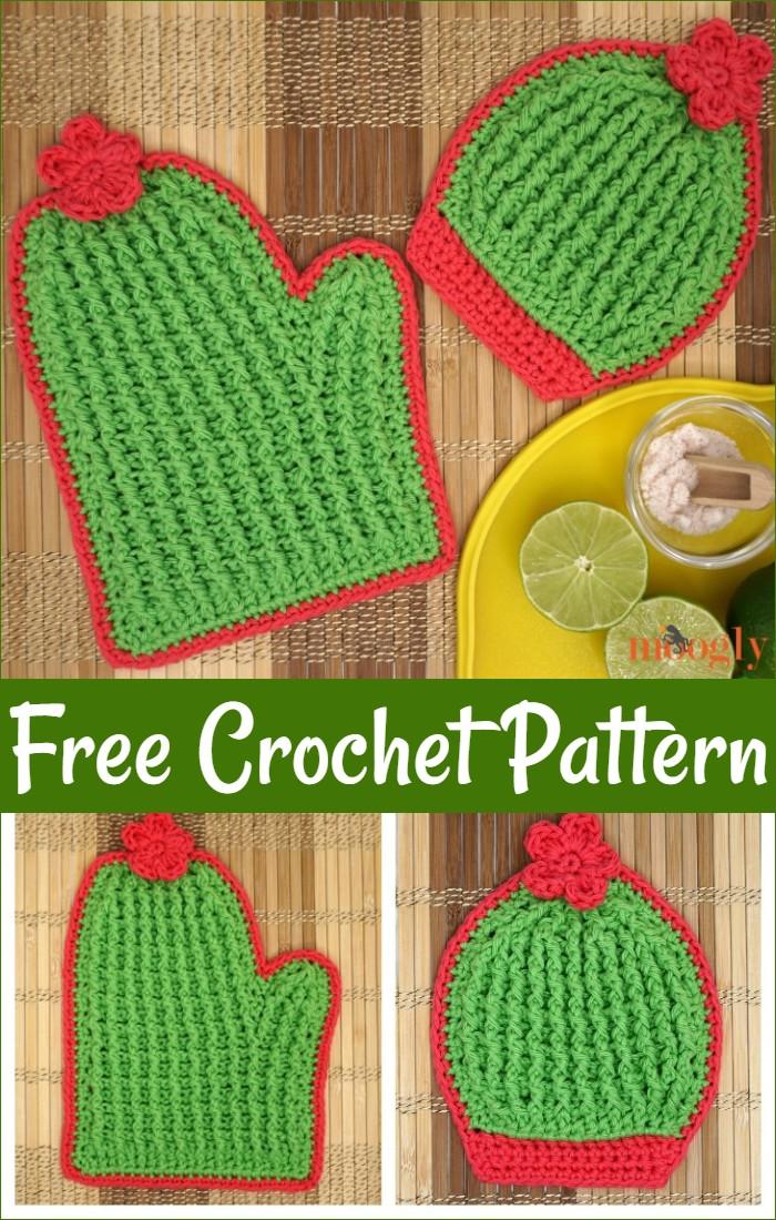 Free Crochet Cactus Potholders