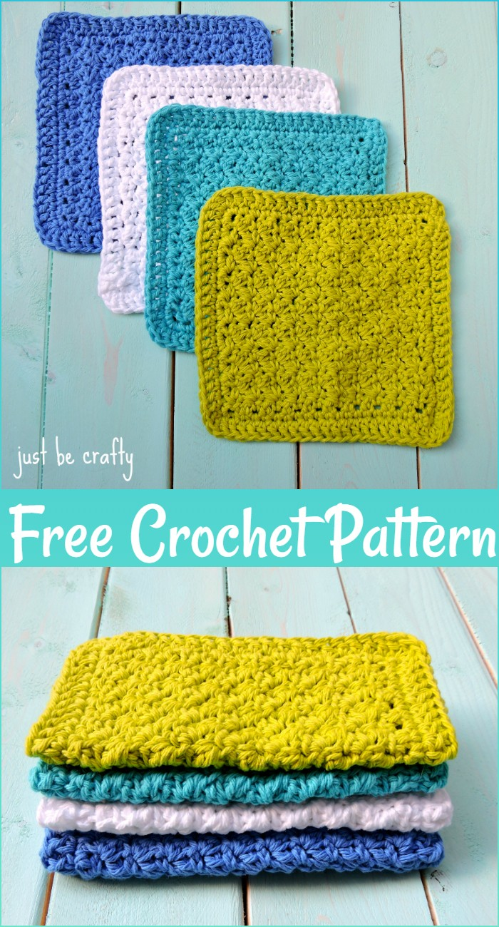 Free Crochet Textured Dishcloths