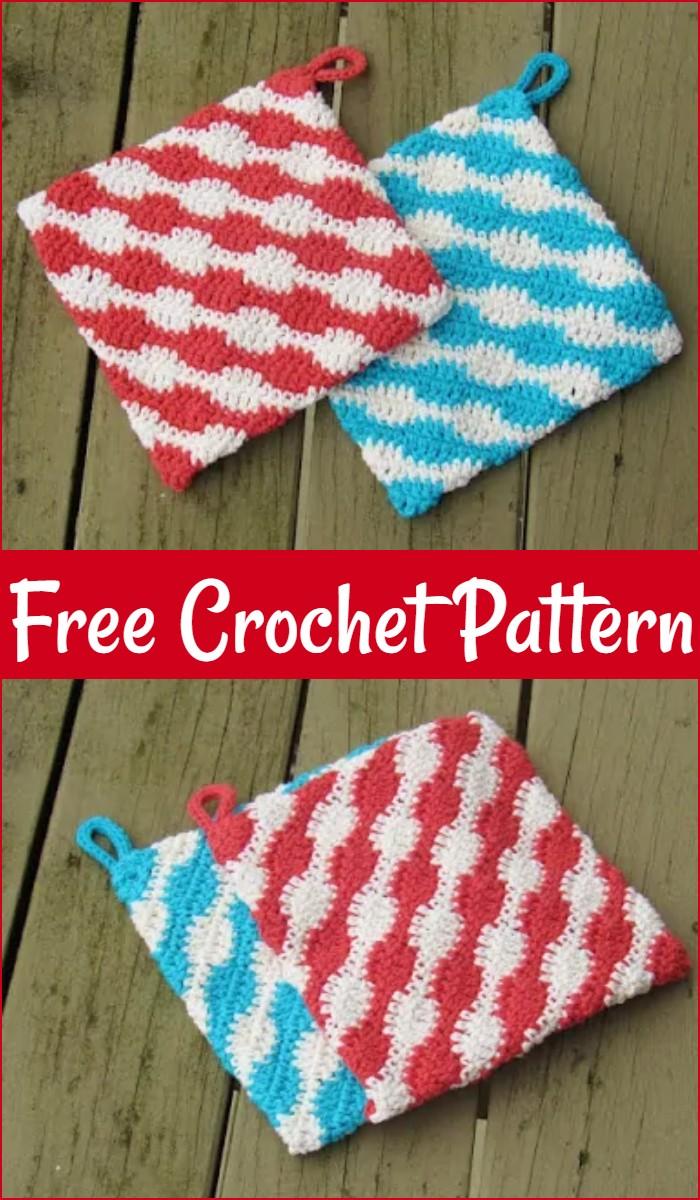 Free Potholder Crochet Pattern Urban Kitchen Potholder
