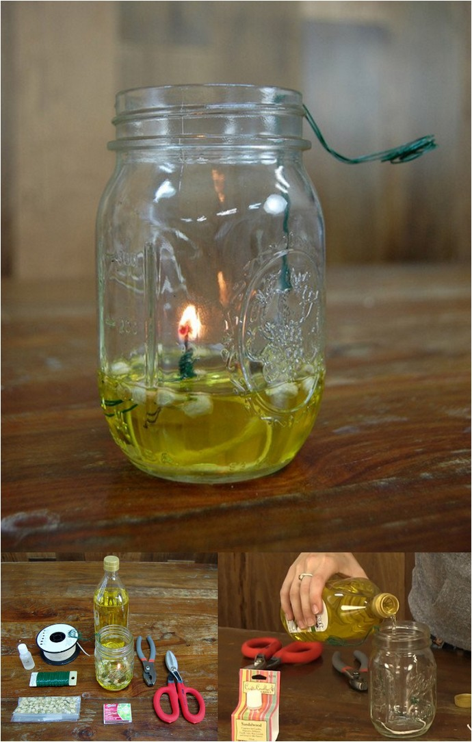 How To Make A Mason Jar Oil Lamp
