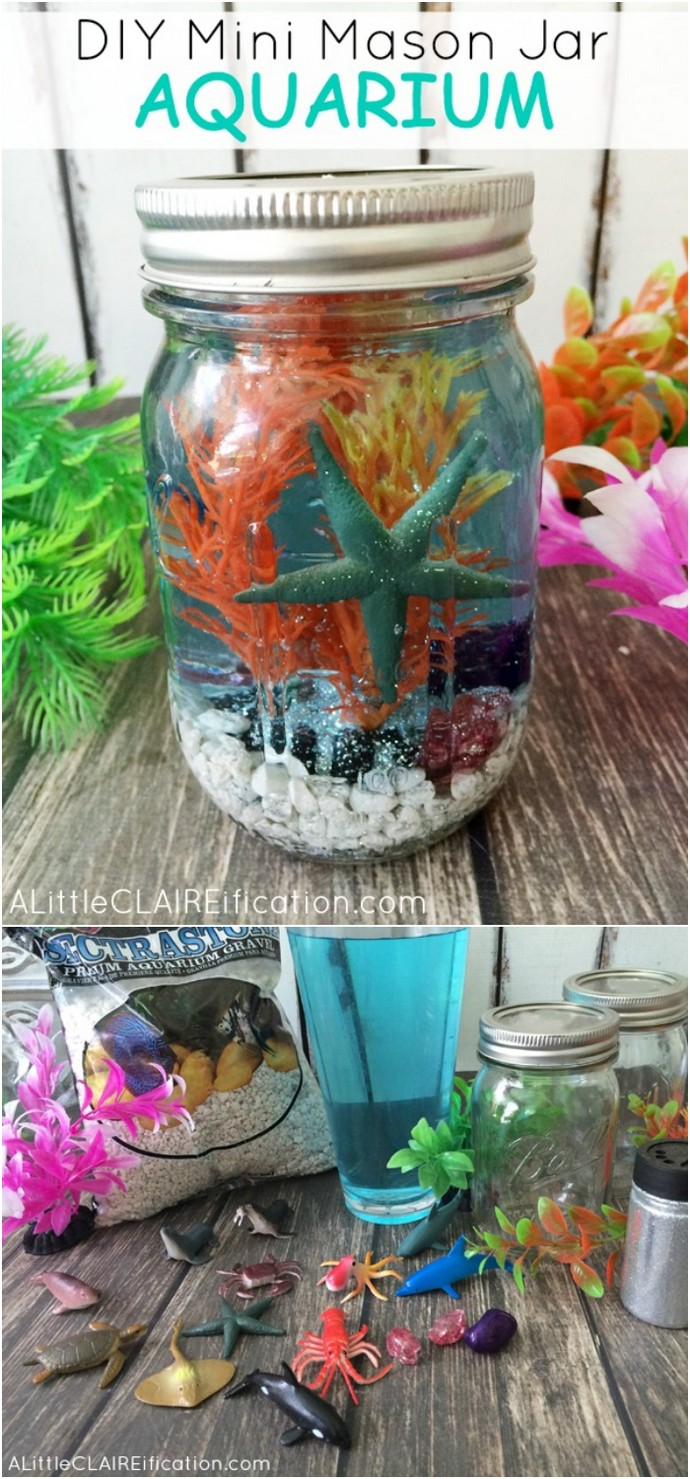 Mini Mason Jar Aquariums