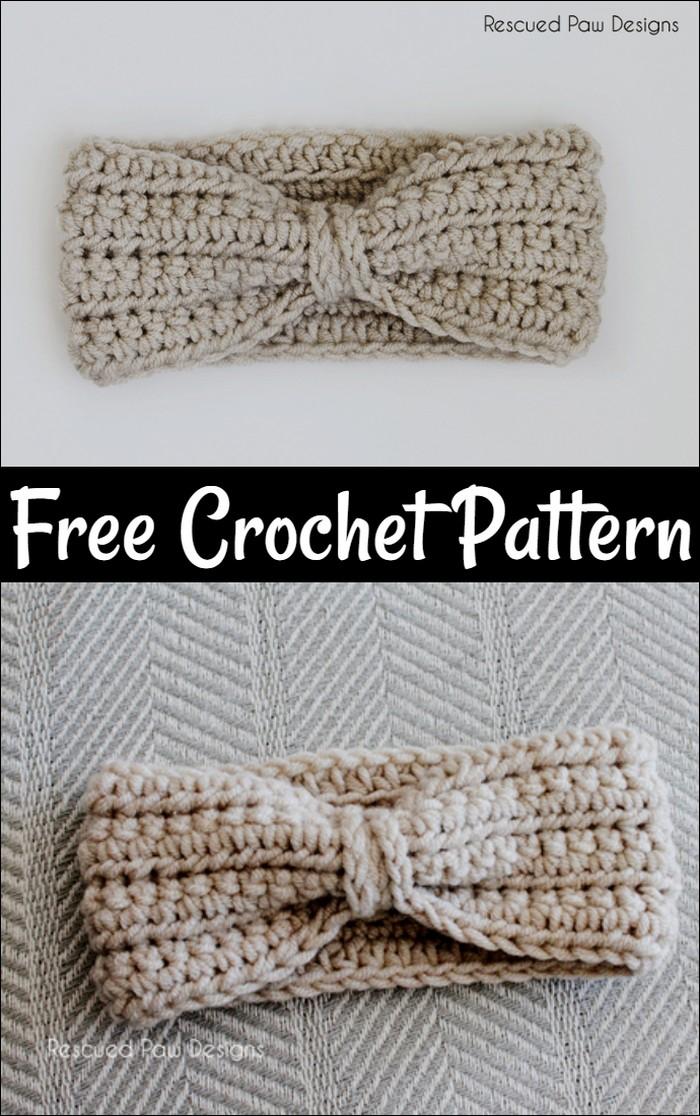 Super Easy Crochet Ear Warmer Pattern