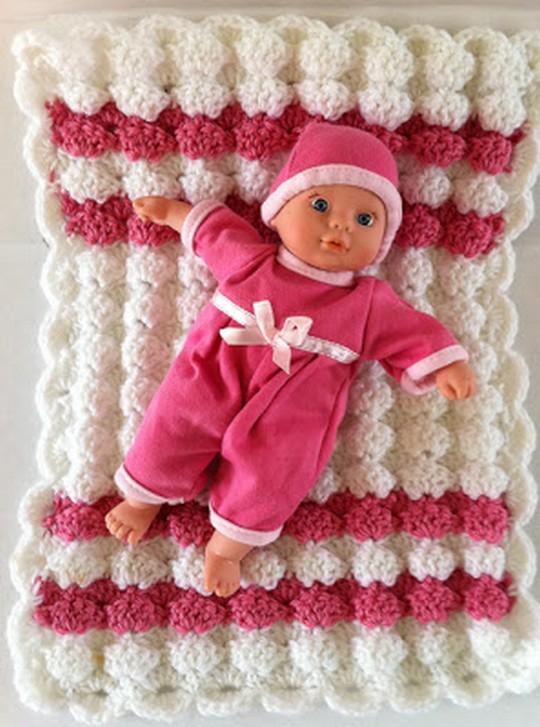 Baby Doll Puff Shell Afghan
