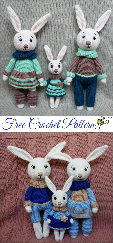 Cuddle Me Bunny amigurumi pattern - Amigurumi Today | 1500x700