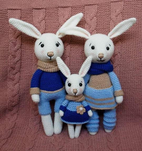 Bunny Family Crochet Toys Patterns