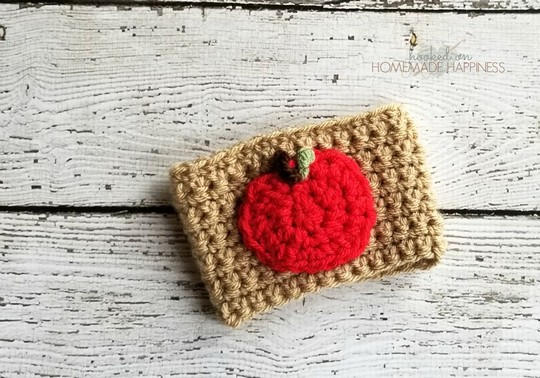 Crochet Apple Coffee Cozy