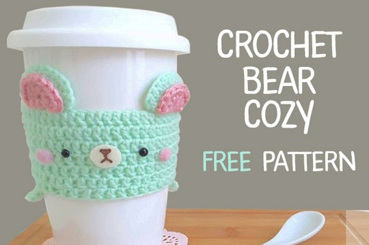 Crochet Bear Mug Cozy