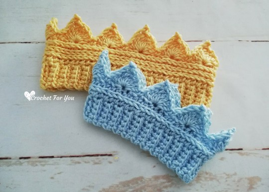 Crochet Crown Earwarmer Newborn