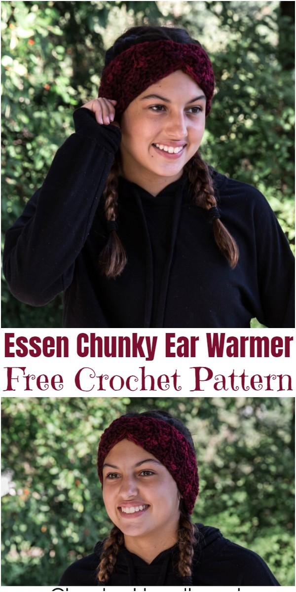 Crochet Essen Chunky Ear Warmer Pattern