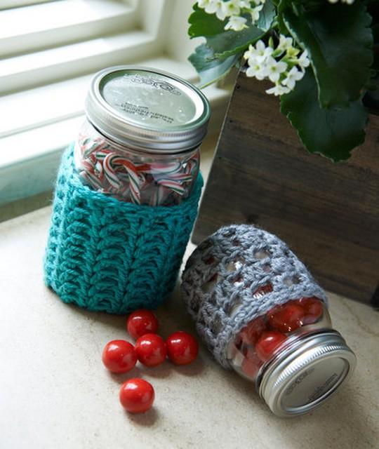 Crochet Jar Cozies
