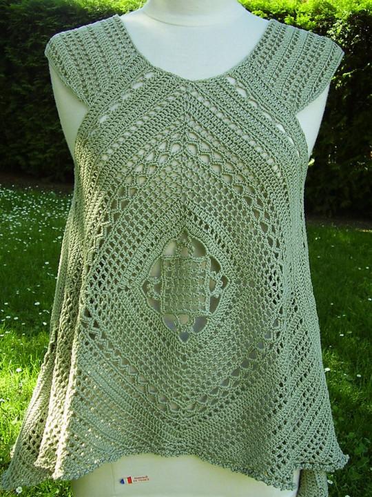 Crochet Summer Lacy Swing Top