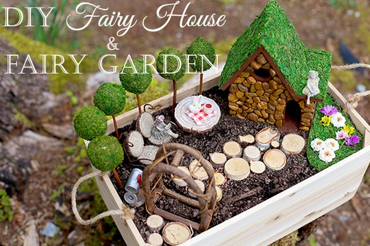 DIY Fairy House and Fairy Garden
