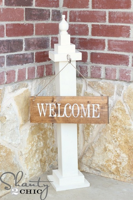 DIY Sign Welcome