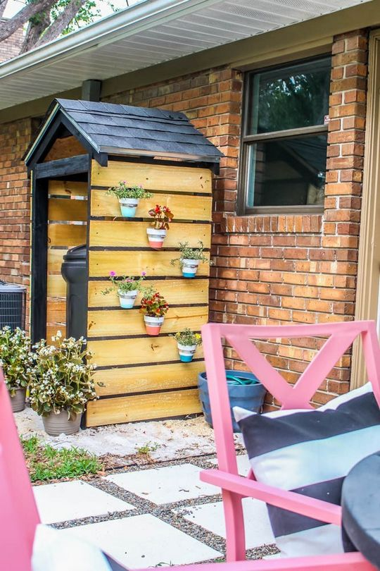 DIY Trash Can Shed For Curb Appeal