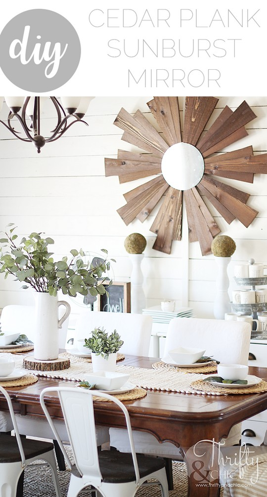 DIY Wood Sunburst Mirror